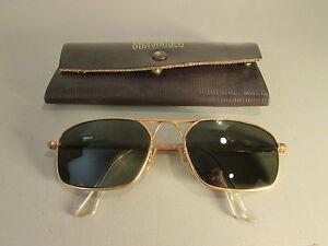 Vintage American Optical 5-1 2 AO Military Aviator Sunglasses 12K ... a3e1bfb15a1