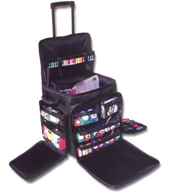 Rolling Tote Organizer Bag On Wheels Crafts Storage Luggage Travel Sbooking