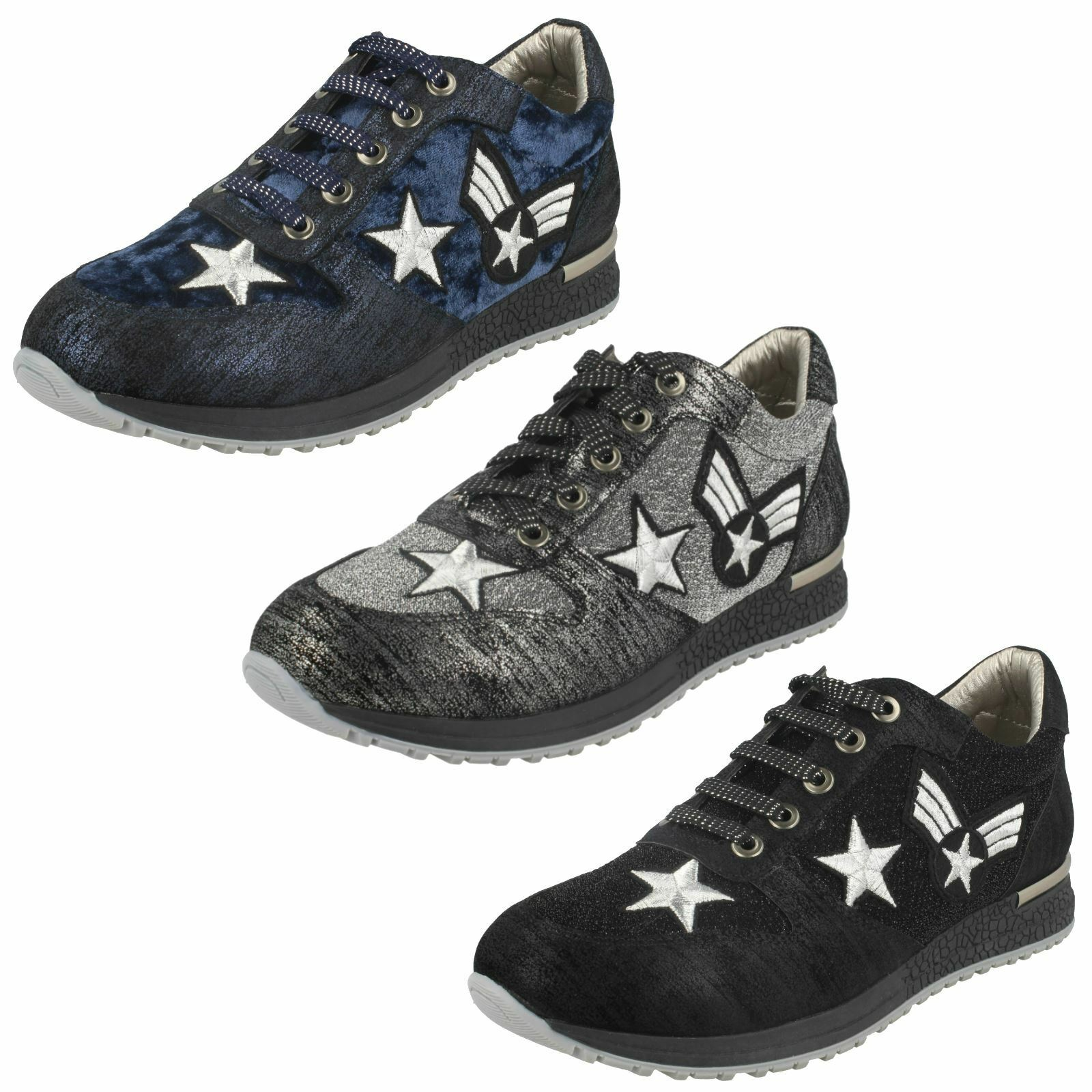 Ladies Spot On Lace Up 'Trainers'