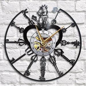 Kingdom Hearts Home Clock Movies Art Vinyl Record Clock Wall Decor Handmade 191