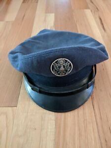 Vintage-Military-U-S-Airforce-Officer-Badge-Uniform-Hat-Cap-Bancroft