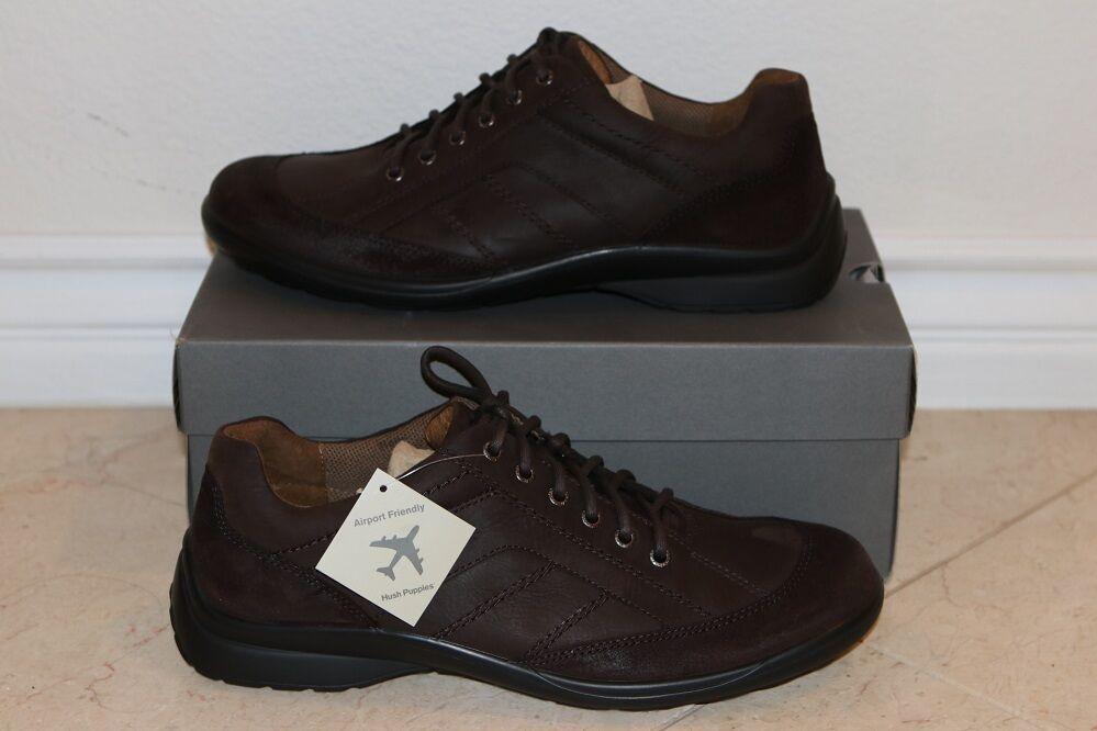 Scarpe casual da uomo  Hush Puppies Tracker uomo's Comfortable Casual Leather Shoes 0 NEW 12