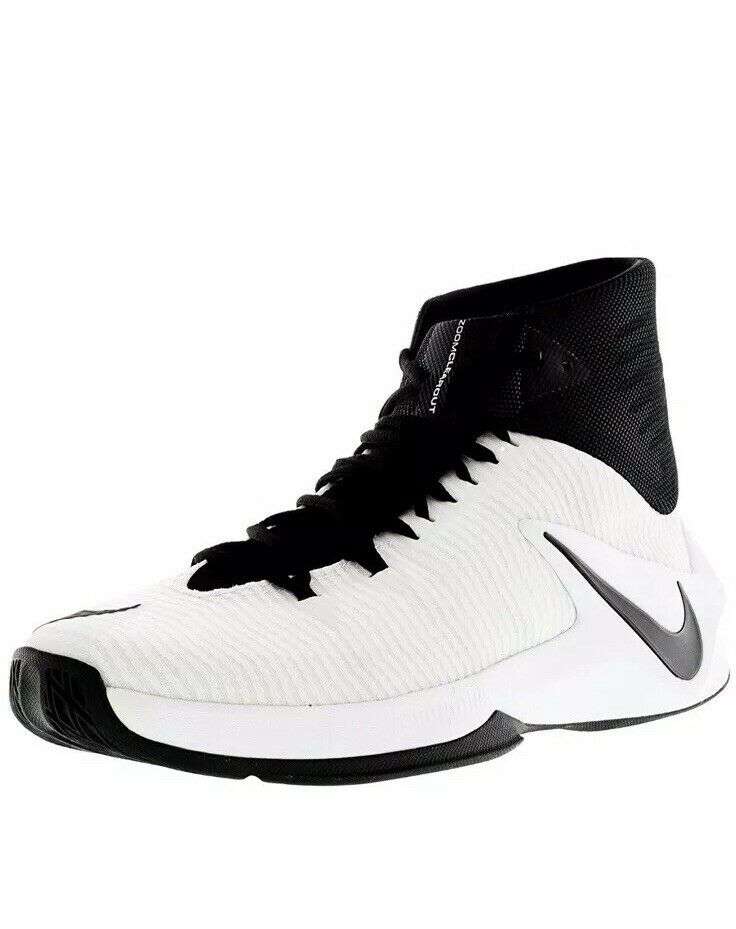 New Nike Zoom Clear Out TB Men 844372-001 Black White Basketball shoes Size 11.5