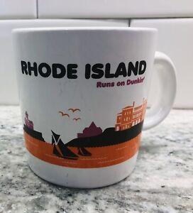 Rhode Island Runs on Dunkin Coffee Mug State Series Collectable 2012 Donuts