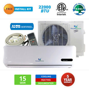 22000 btu mini split air conditioner ductless heat pump for 18000 btu ac heater window unit