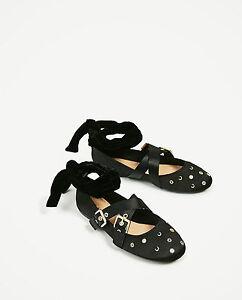 8 Plates 3292 Eu Ref Zara Taille Neuf Chaussures Nœud 201 Ballerines 6 Détail TvwwIfq8