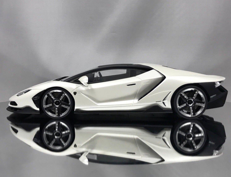 GT anda   Kyosho Lamborghini Centenario LP770 -4 Pearl vit hkonsts modellllerler 1 18