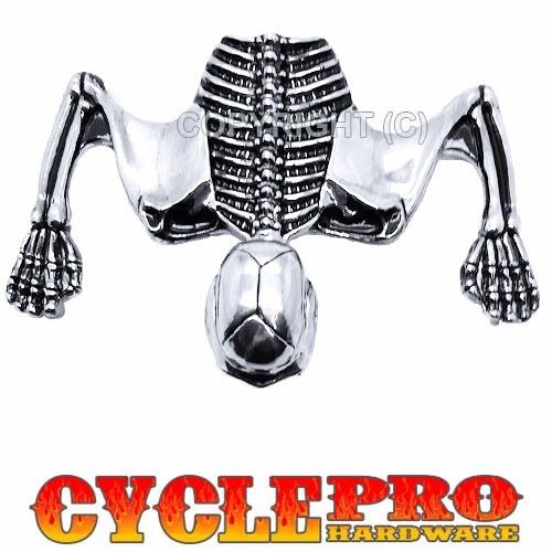 """Chrome Skull Skeleton 7/"""" Harley Headlight Visor Ornament /& Headlamp Ring Emblem"""