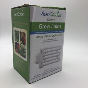 New AEROGARDEN 3 Pack Deluxe Compact Fluorescent Grow Bulbs Model #100633