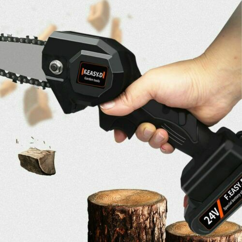 4 inch The Mini Electric Chainsaw Ever Battery-Powered Wood Cutter 1 pcs New