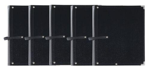 5x Superschöne und edle Notenmappe zur Aufbewahrung von Noten Blättern Set Black