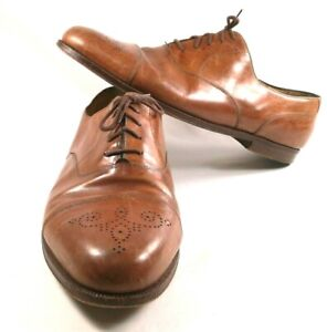 COLE-HAAN-Homme-12D-Marron-Cuir-Oxford-Lacets-Chaussures-MADE-IN-ITALY