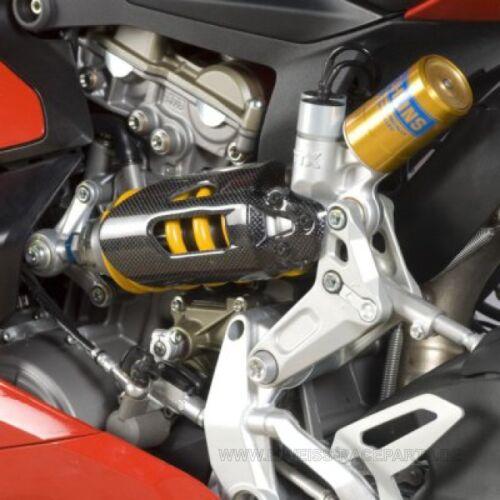 R /& G CARBON KEVLAR sospensioni copertura DUCATI 899//1199 PANIGALE Shock Cover