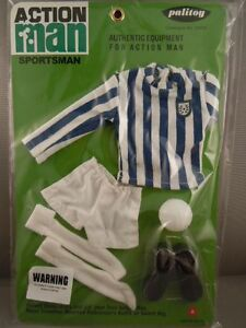 Carded SPORTSMAN ACTION MAN  40th GREEN JERSEY FOOTBALLER CARD