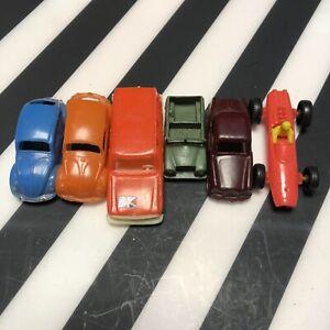 LOTTO-DI-VINTAGE-PLASTIC-TOY-CARS-Hong-Kong-e-Italia-VW-JEEP-ect
