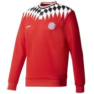 adidas-Men-039-s-FC-Bayern-Munich-Crew-Sweatshirt-Red-BQ3210