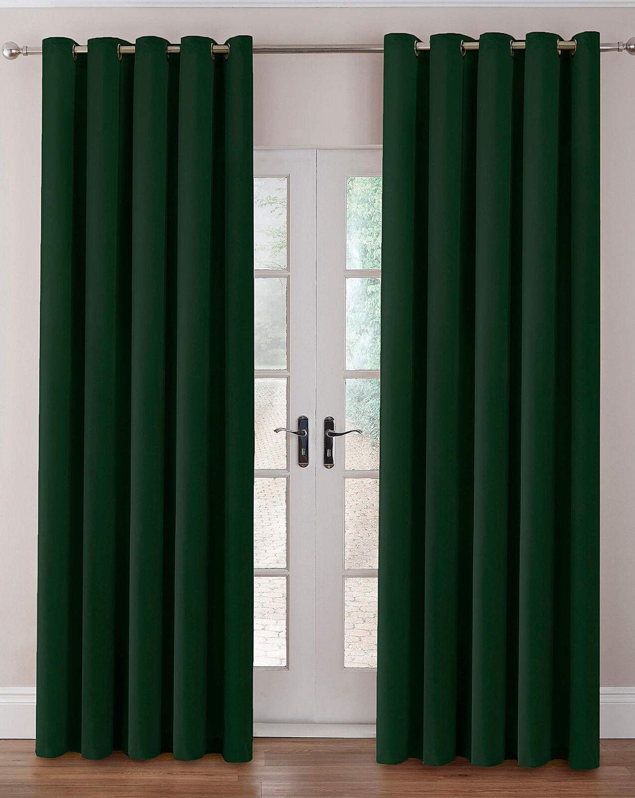 Plaine de velours velours velours velours thermique teints rideaux à anneaux dans plusieurs couleurs 455a9c
