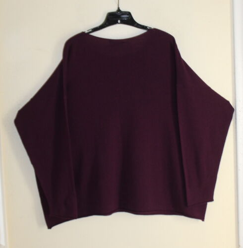Purple girocollo s lungo Eskandar Royal O Exquisite Merino maglia Boxy maglione Nwt xACYwEzqnq