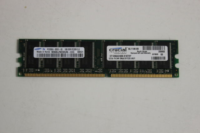 Samsung 1 GB DIMM 400 MHz DDR SDRAM Memory M368L2923DUN CCC