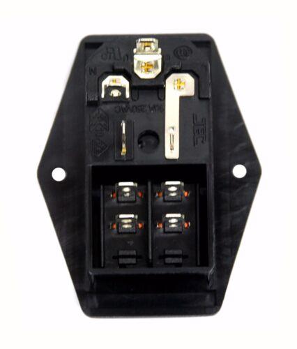 Interrupteur JEC 1pc IEC 3P Air Conditioning Inlet Socket JR-101-1FR2-02 10 A 250 V Porte-Fusible