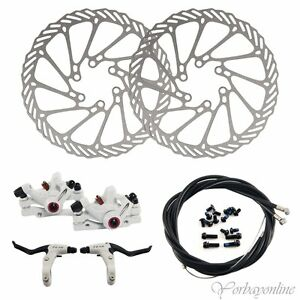 G3 Mechanische Fahrrad Scheibenbremse Alu Set vorne /& hinten Bremsscheiben