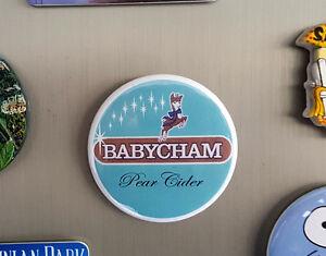 Babycham-Pear-Cider-039-Beer-Mat-039-Fridge-Magnet-58mm-diameter