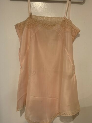 Pink 1930's Lace Teddy Size Medium