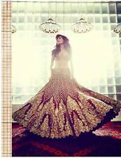 Last piece-Indian Designer Bollywood Pakistani Bridal  Wedding Lehenga Lehnga