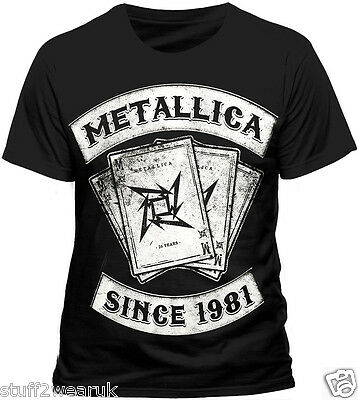 Metallica Dealer Since 1981 T Shirt Official   S M L XL XXL 028