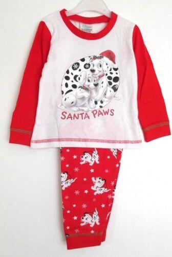 Girls 101 Dalmations Christmas long Pyjamas 100/% Cotton 6-9 12-18  Months