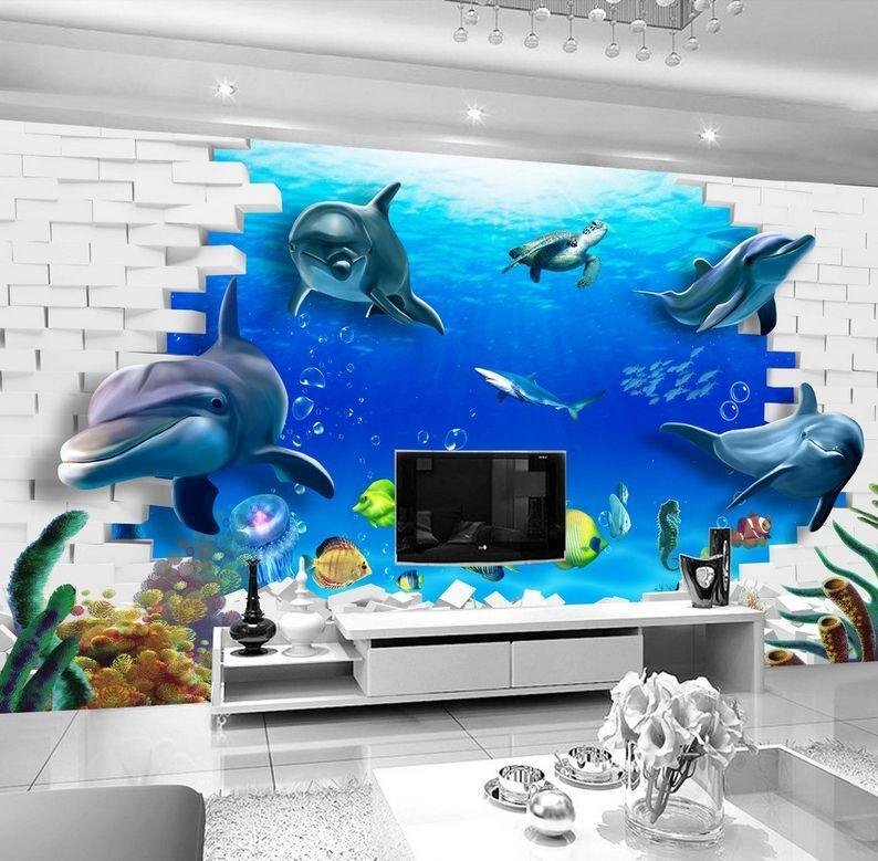 3D Belle Océan 67 Photo Papier Peint en Autocollant Murale Plafond Chambre Art