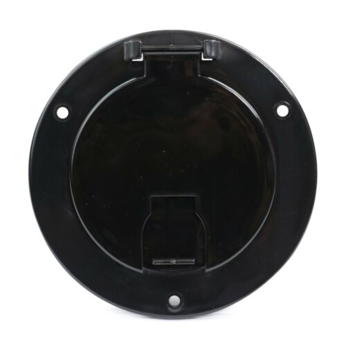 Black Round Electric Cable Hatch Back RV Camper Trailer Parts Home  5B