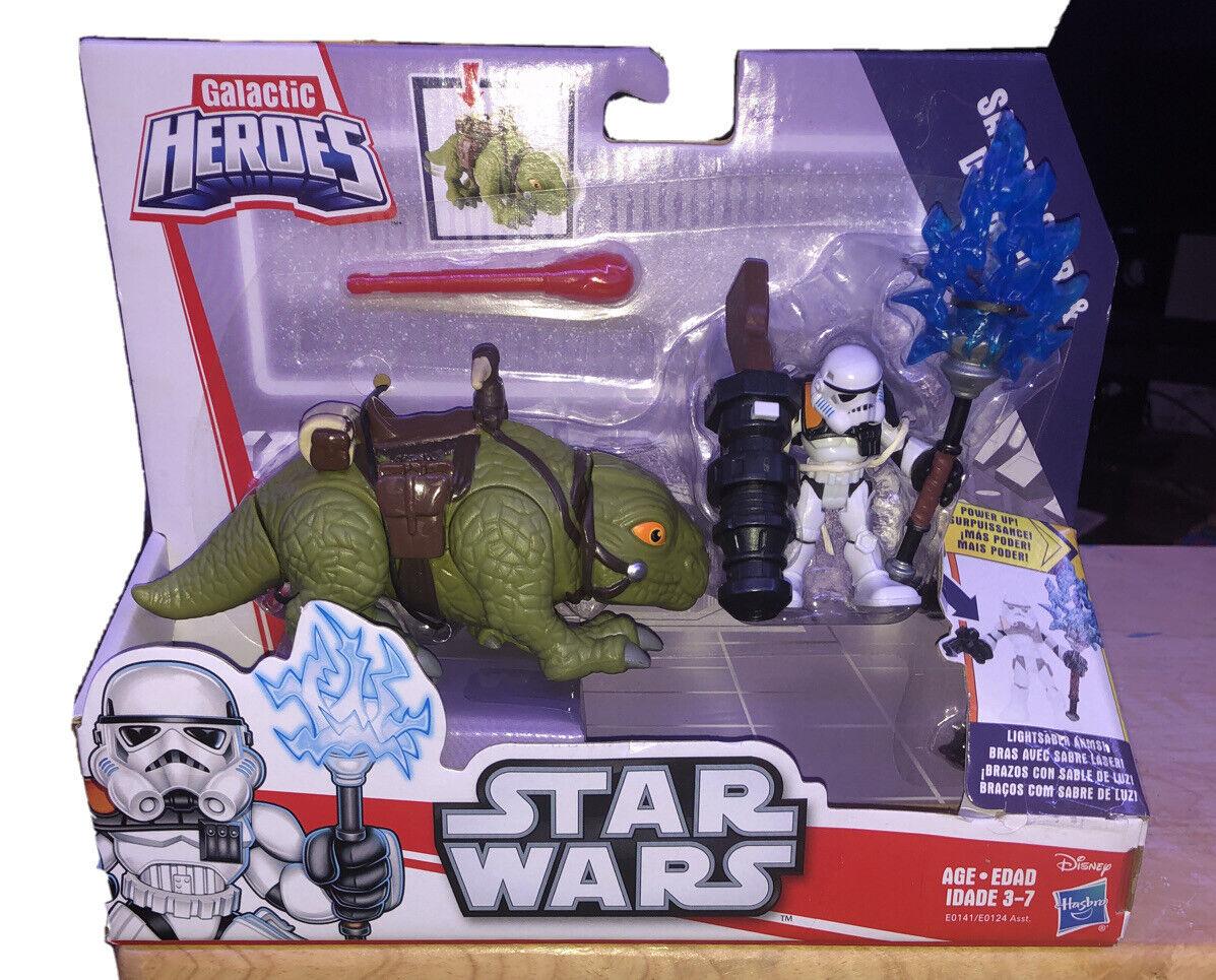 Star Wars Playskool Galactic Heroes Sandtrooper commandant avec le personnel Power Up