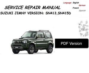 suzuki jimny workshop service manual pdf ebay rh ebay co uk suzuki jimny manual usuario suzuki jimny manual usuario