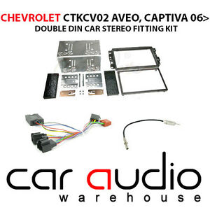 Chevrolet Aveo 2006 Car Stereo D/Din Fascia & Steering Wheel Interface CTKCV02