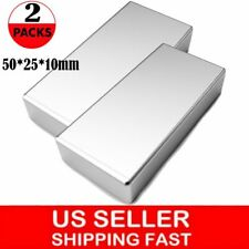 2pc Block Magnets Super Strong N52 Neodymium Large Magnet 2x1x039 Rare Earth