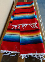 Serape Table Runner Red Onws2x5 Southwest Southwestern Mexican Small Blanket