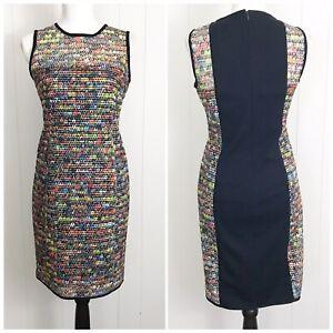 Akris Punto Womens Size 6 Multi Color Sleeveless Mesh Dress