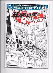 Harley-Quinn-Rebirth-1-Yancy-St-Comics-Exclusive-Sketch-Variant-Tom-Raney-Art
