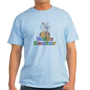 d7e21d4d Image is loading CafePress-Happy-Easter-Artist-Bunny-Light-T-Shirt-