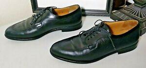 Mezlan-Hudson-Mens-Black-Leather-Shoes-Size-9M-Split-Toe-Lace-Up-Dress