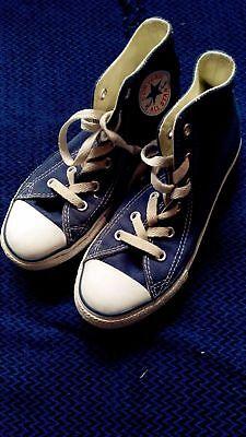 Converse Juventud Blue Zapatillas Tamaño 13/31.5 * * En muy buena condición