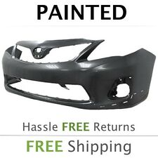 Fits: 2011 2012 2013 Toyota Corolla Front Bumper PAINTED -W/ spoiler holes S/XRS