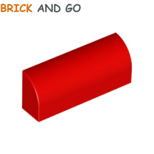 Round Brick Curved 1x4x1 NEUF NEW 1 x LEGO 10314 Brique Arrondie rouge, red