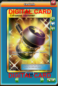 1X Enhanced Hammer 162//145 Guardians Rising SR Pokemon TCG Online Digital Card