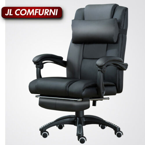 Home Office Executive Computer Chair Footrest Recliner Racing Lift Faux Leather by Ebay Seller
