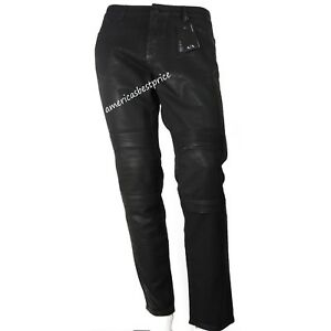 ab398989 Details about A|X ARMANI EXCHANGE NEW MEN'S MOTO ACCENT SKINNY JEAN SLIM  BLACK NWT RETAIL:$170