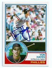 Cleveland Indians Von Hayes Signed Auto 1983 O Pee Chee OPC Card #325  K