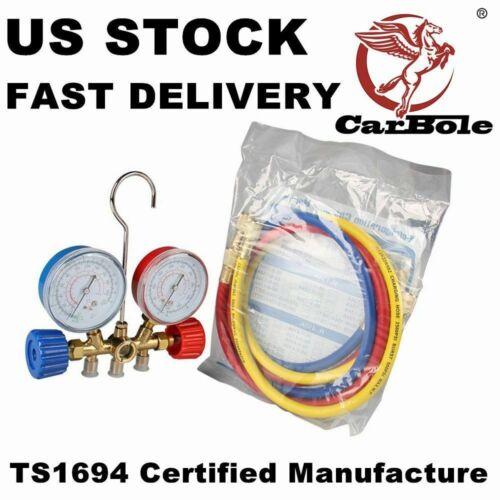 New R12 R22 R134A R502 HVAC A//C Refrigeration Charging Kit Manifold Gauge Set