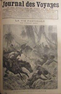 Zeitung-der-Voyages-Nr-814-von-1893-Australien-Leben-Pastorale-Versand